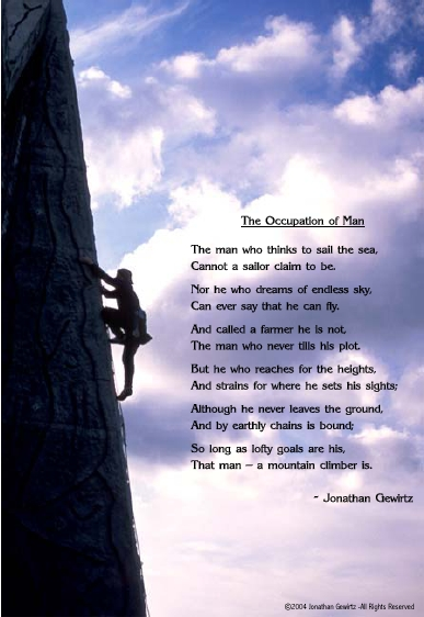 An original poem, not such an original thought.